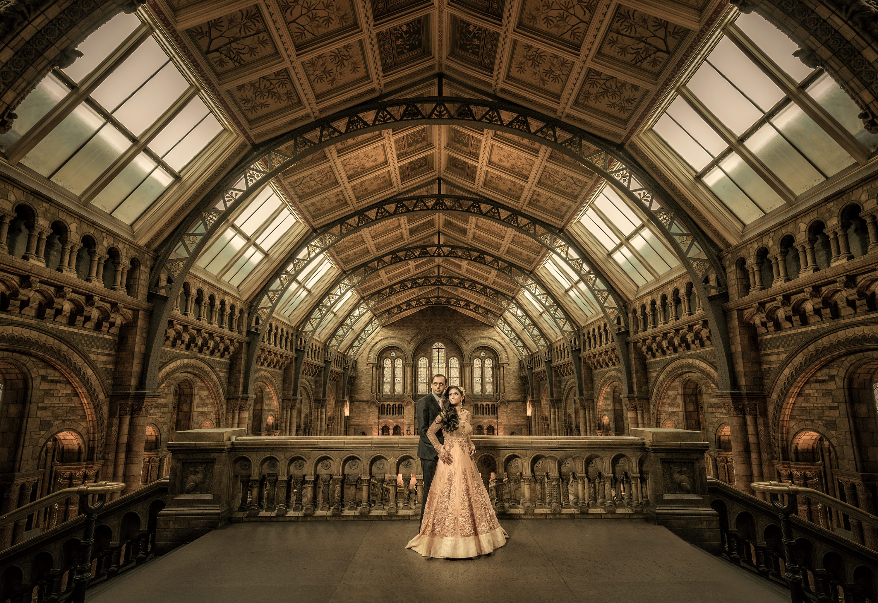 Asian Wedding Photographer Didar Virdi Natural History Museum London